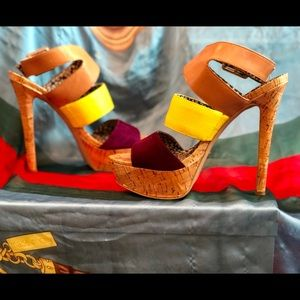 Rare Jessica Simpson Platform Cork Heels!! Size 8
